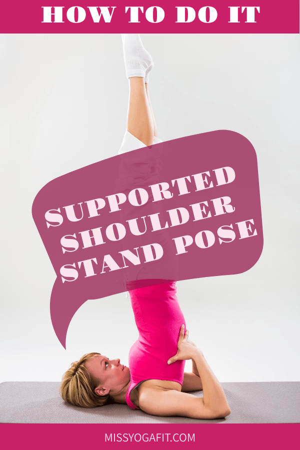 how to do the supported shoulder stand